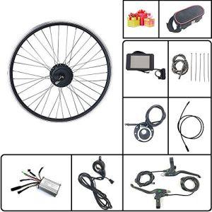 Schuck Kit de Conversion de vélo électrique avec écran LCD8H 36V/48V 350W Rayons et Jantes de Rotation de Roue arrière de vélo électrique (36V350W LCD8H 29inch)