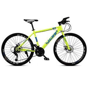 tools BMX Dirt Vélos de Route Vélo de Montagne Vélo de Route VTT Homme 24 Vitesse 24/26 Pouces Roues for Adultes Femmes (Color : Green, Size : 24in)
