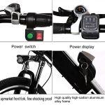 Vélo électrique pliable, vélos électriques 36V 250W, vélo de montagne à batterie au lithium 8A, vélo électrique de grande capacité de 26 pouces avec batterie au lithium et chargeur (Dépliable_noir)