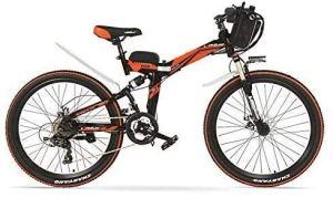 ZTBXQ Sports de Plein air vélo de Route de Ville de Banlieue 24 Pouces 48V 12AH 240W Aide à pédale vélo Pliant électrique Freins à Disque à Suspension complète E Mountain plm46