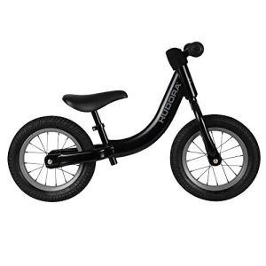 Hudora 10419/00 Comfort Vélo pour Enfant avec pneus à air 12″ à partir de 3 Ans avec Selle réglable en Hauteur Noir