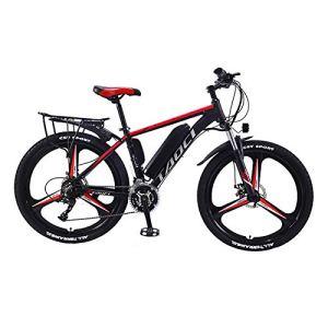 Hyuhome Vélos électriques pour Adultes, en Alliage de magnésium eBikes Vélos Tout Terrain, 26″ 36V 350W 13Ah Amovible au Lithium-ION pour Hommes Montagne Ebike,Rouge,13Ah80Km