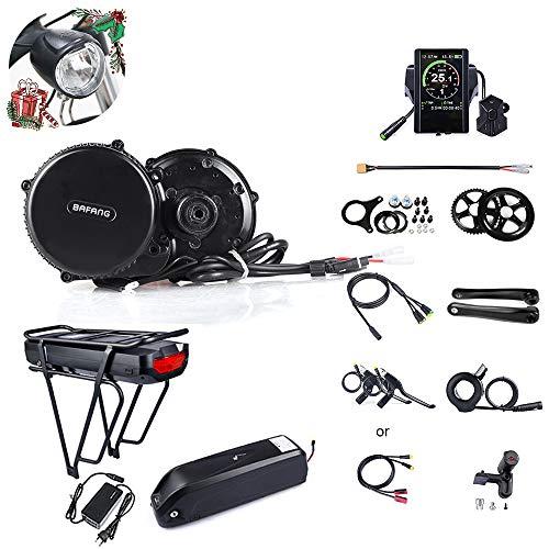JUNSTAR Bafang BBS02B 48V 750W (MM G340.750) Vélo de Montagne Mid-Drive Motor Vélo de Route électrique Kit de Conversion de vélo avec Batterie et écran LCD