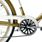 KCP 26″ VÈLO Cruiser Beach Cruiser Homme Easy Rider 2.0 6 Vitesses Shimano aurifère Blanche (wg) Vintage Look – 66,0 cm (26 Pouces)