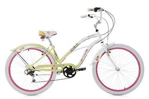 KS Cycling Beachcruiser Paradiso Vélo Femme, Blanc, 42