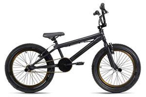 "KS Cycling BMX Freestyle 20″ ""FATT"" Noir 20» Jeunesse Unisexe, 25"