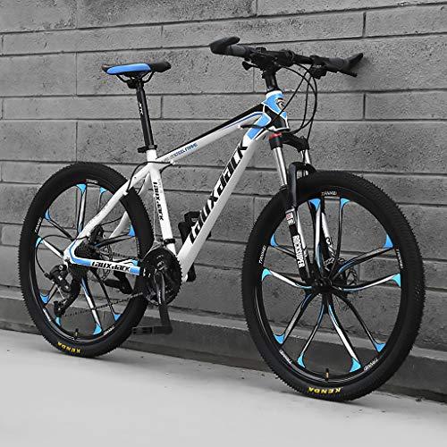 LWZ 26 Pouces VTT vélos VTT 24 Vitesses Double Frein à Disque en Acier à Haute teneur en Carbone vélo d'exercice vélo de Route Adulte étudiant