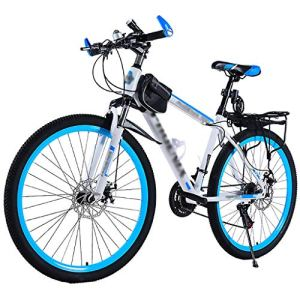 LWZ Vélo de Montagne 26 Pouces Roue 24 Vitesses Suspension complète vélos Tout-Terrain pour Adultes Cyclisme vélos de Route vélos d'exercice VTT Semi-rigides