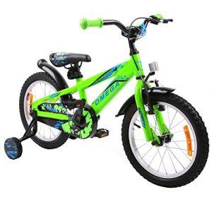 OMEGA BIKE Vélo de Ville Unisexe pour Enfant Vert 16