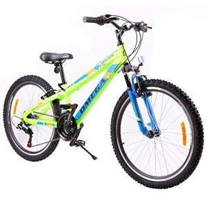 OMEGA BIKES Vélo de Route Unisexe pour Enfant Vert 24