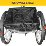 Sehrgo Tricycle pour Adultes, vélo de 24 Pouces avec vélos de Ville 7 Vitesses avec Panier en Gris sidéral