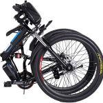 Vélo électrique pliable, vélos électriques 36V 250W, vélo de montagne à batterie au lithium 8A, vélo électrique de grande capacité de 26 pouces avec batterie au lithium et chargeur (Pliable_noir)