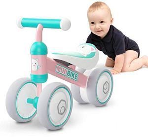 XIAPIA Vélo sans pédales 1 an Vélo Bébé Baby Walker Tricycle Draisienne Premier Jouets pour 1-3 Ans Jouet Enfant 1 an (Petit Chat)