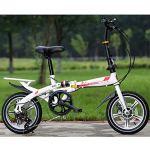 YEDENGPAO Vélo Pliant, Étudiant À Vitesse Variable De 20 Pouces Adulte Vélo Portable Ultra Léger, Adulte7 Vitesse VTT Vélo,B