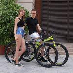 ZYD Vélo de Montagne Pliant 24/26 Pouces vélo extérieur 21 Vitesses Pleine Suspension VTT vélos de Sport Hommes et Femmes Adultes Banlieue vélos antidérapants