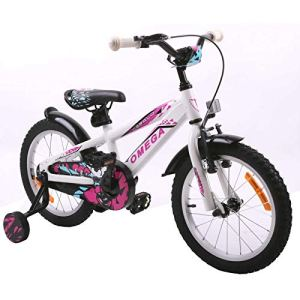 OMEGA BIKE Vélo de Route Unisexe pour Enfant Blanc 20