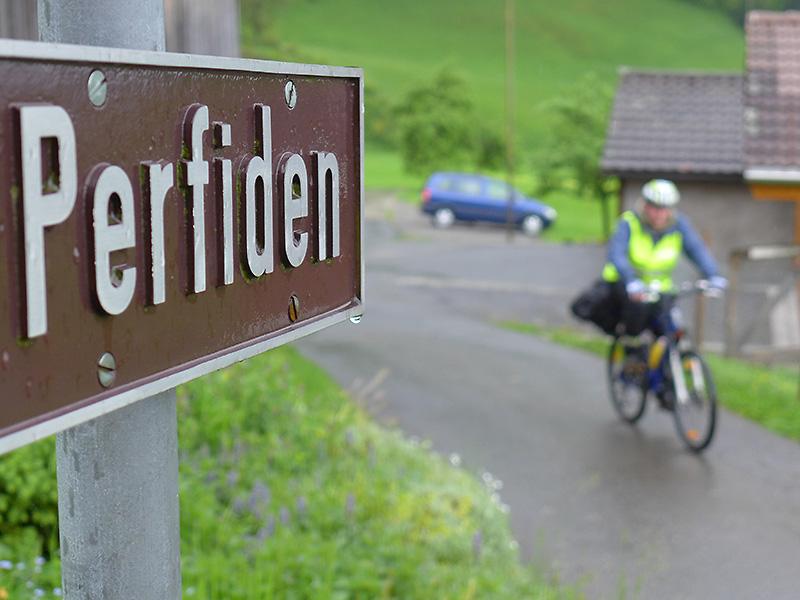 Perfide Steigungen - auch das gehört zur Velowallfahrt Luzern-Einsiedeln.