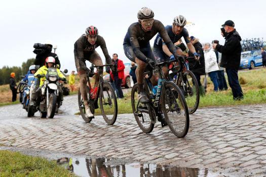 Matteo Jorgensen battles injury and stomach problems in race of survival at Paris-Roubaix