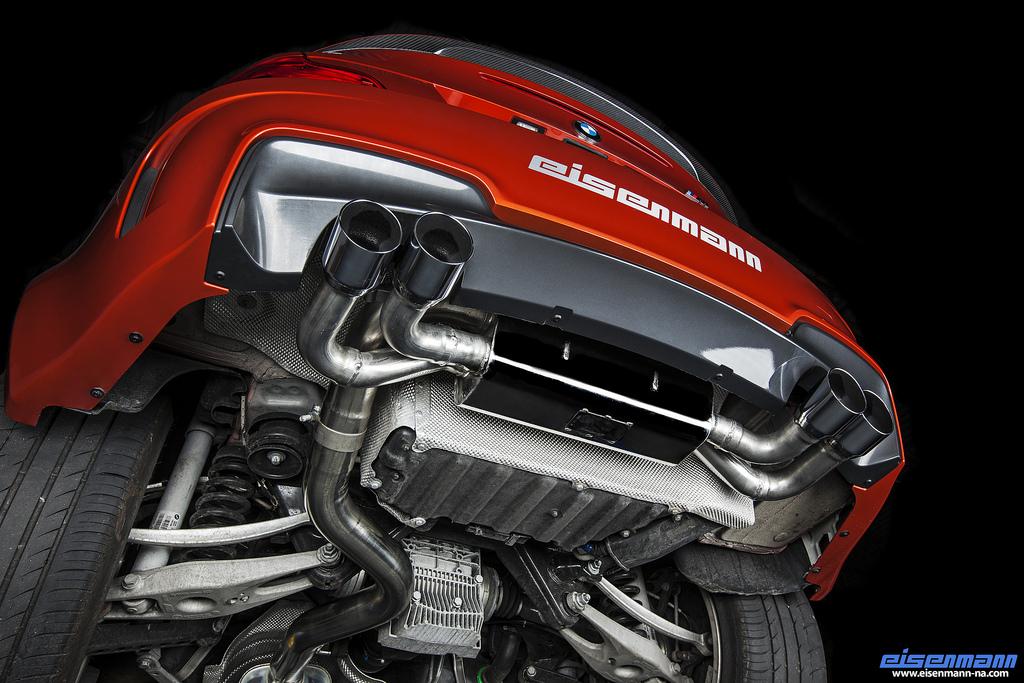 bmw e82 1m eisenmann 4 x 83mm performance exhaust b5422 00834