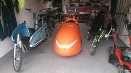 Gazelle Strada Speedmachine i garagen
