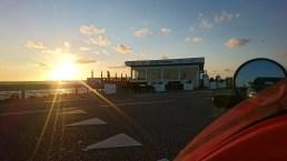 Solen er på vej ned ved Egense