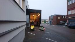 Velomobile cargobike lift at Velove (1)