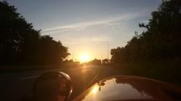Flot solnedgang sidste 5 km hjem