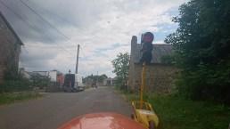 Lyssignal ved vejarbejde
