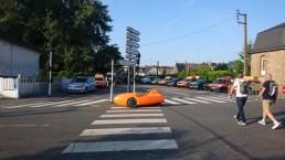 Reklamekaravane ved TDF start i Fougéres