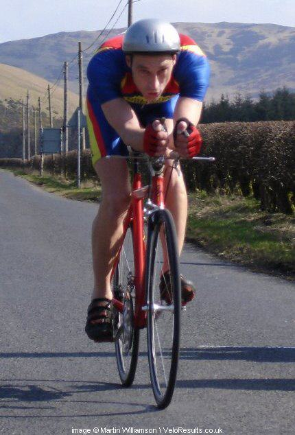 Graeme in a time trial in the Scottish Borders.