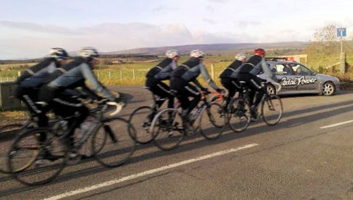 The new Team Emdura on their first training camp around Loch Earn in early November.