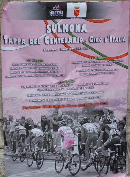 Poster in Sulmona.