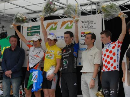 The final GC podium. Spot J-F Bernard? He's one of the organisers of this race.