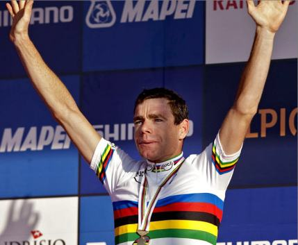 Cadel Evans is the World Champion.