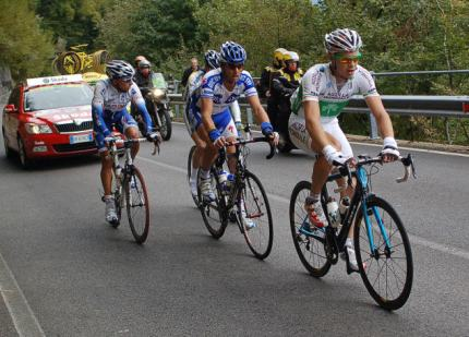 Irish Champion Nico Roche leads the break.