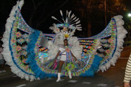 Fantastic carnival costumes.