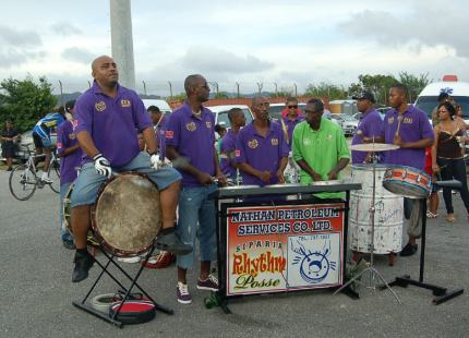 The 'voodoo' drums provided the backbeat.