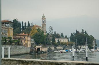 On the shores of Lake Como.