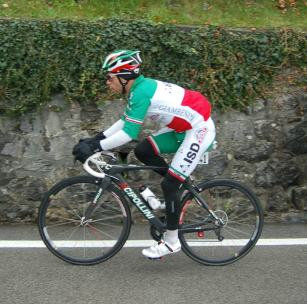 Visconti looked serious today, as befits the Italian Champion.