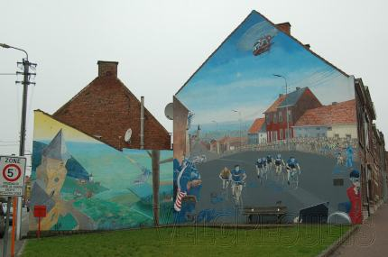 The house murals in Ronse.