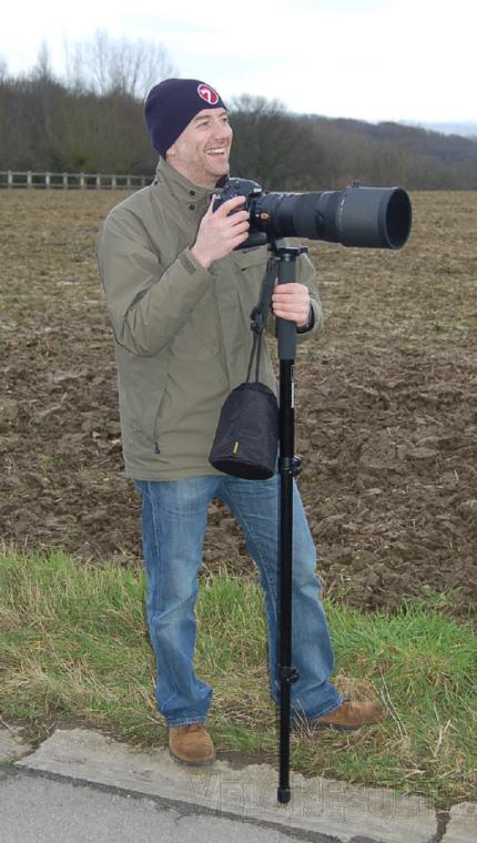 VR pal John Young and his monopod.