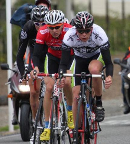Wade racing in last year's Tour of Southland.