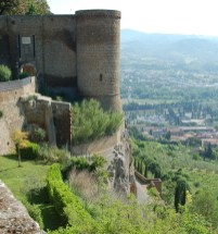 Part of the city walls.