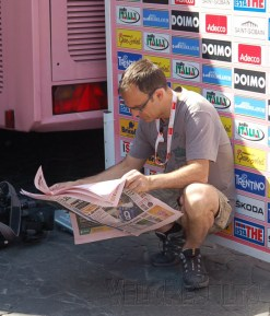 You need your Gazzetta - no Gazzetta, it feels like it's no Giro.