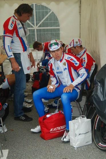 Anton Vorobev looks a tad anxious.