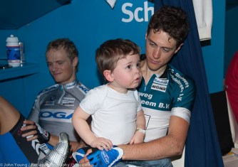 Niki Terpstra and his wee one.