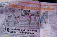 Today's Gazzetta. Finally, it's Italy's day.