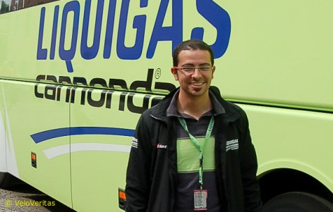 We caught up with Liquigas press officer, Paolo Barbiere.