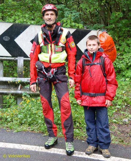 At some of the more dangerous bends there are mountain rescue guys on duty, in case anyone goes over the edge.