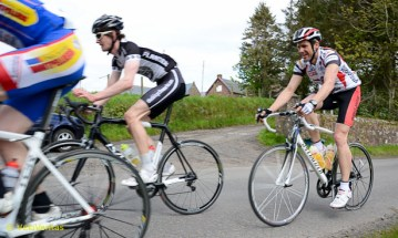 Lap 9: We were surprised to see Andrew Brierley back in the bunch after at least a lap out.